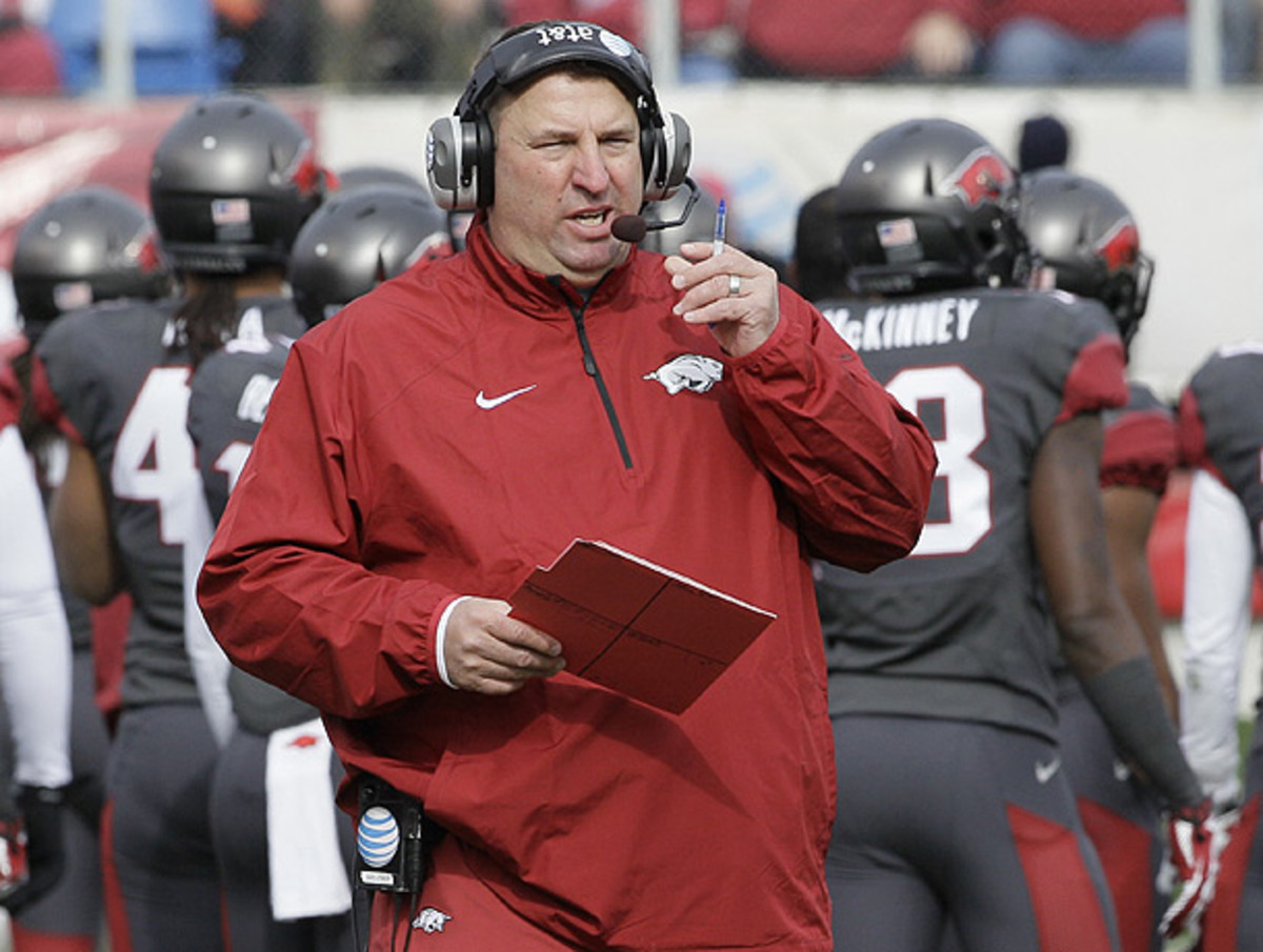 Bret Bielema is standing behind his opinion that player safety should be the NCAA's primary concern. (Danny Johnston/AP)