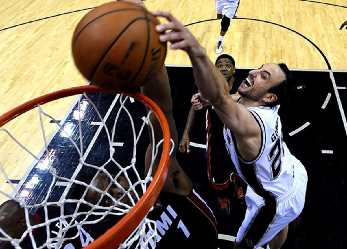 Manu Ginobili and the Spurs stuffed the Heat to win the 2014 NBA Finals.