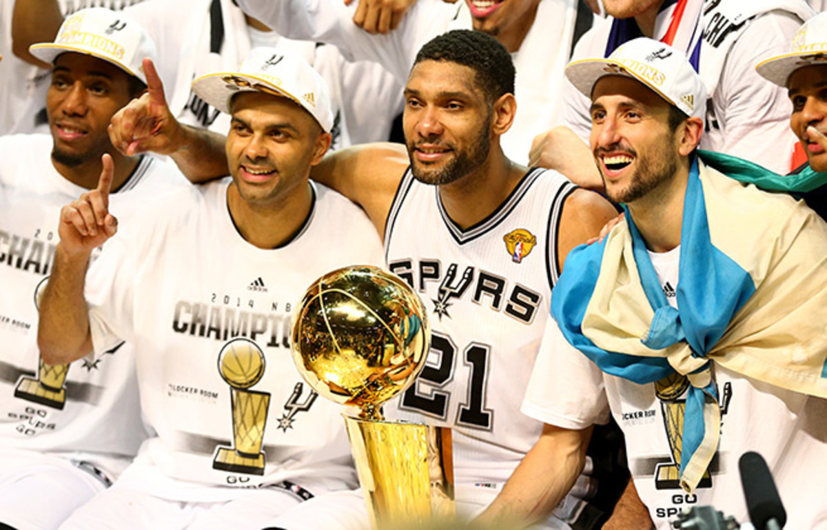 The Spurs won their fifth title of the Duncan-Popovich era by beating the Heat in five games.
