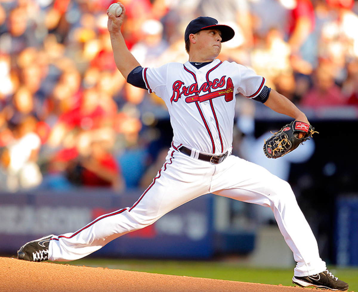 Kris Medlen went 15-12 with a 3.11 ERA for the Braves in 2013.