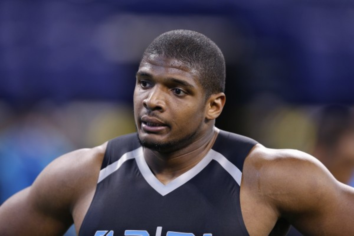 Michael Sam became the first openly gay player to be drafted in the NFL this weekend. (Joe Robbins/Getty Images)