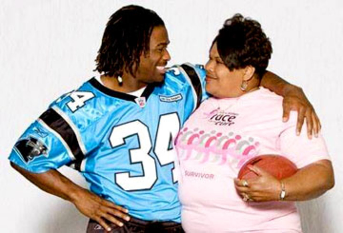 DeAngelo Williams and his mom, Sandra Kay Hill. (Courtesy Photo)