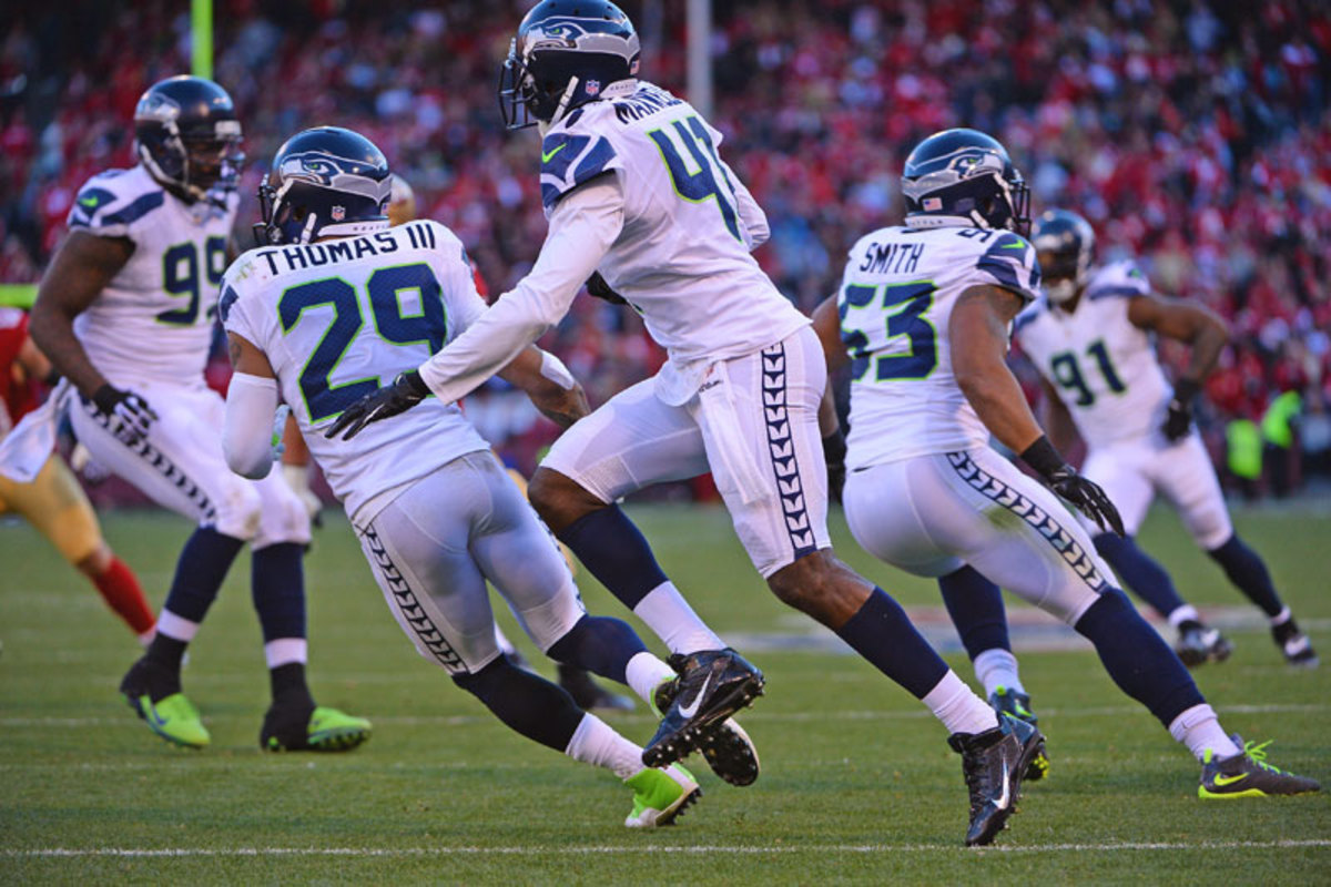 Byron Maxwell (41) has stepped into a spotlight role for the Seahawks; Denver's best shot is to look for mismatches to neutralize Seattle's  secondary. (John W. McDonough/Sports Illustrated/The MMQB)