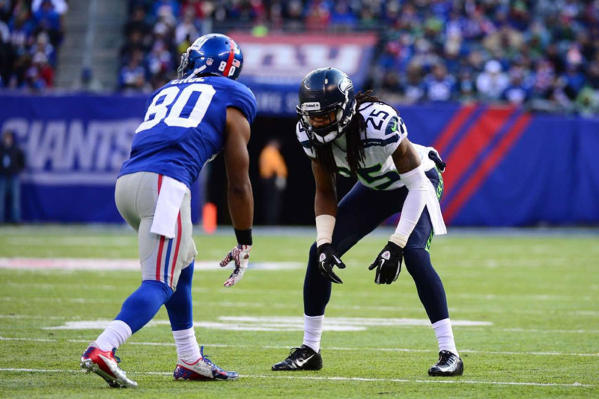 As Gilbride learned in December, any game plan against the Seattle D starts with trying to win the one-on-one battle on the corners. (Carlos M. Saavedra/Sports Illustrated/The MMQB)