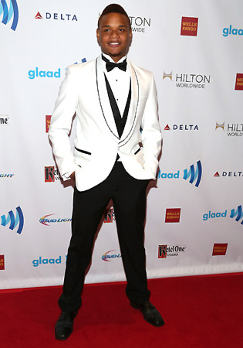 After Gordon came out, he found joy in a new community -- he's seen here attending the GLAAD awards.