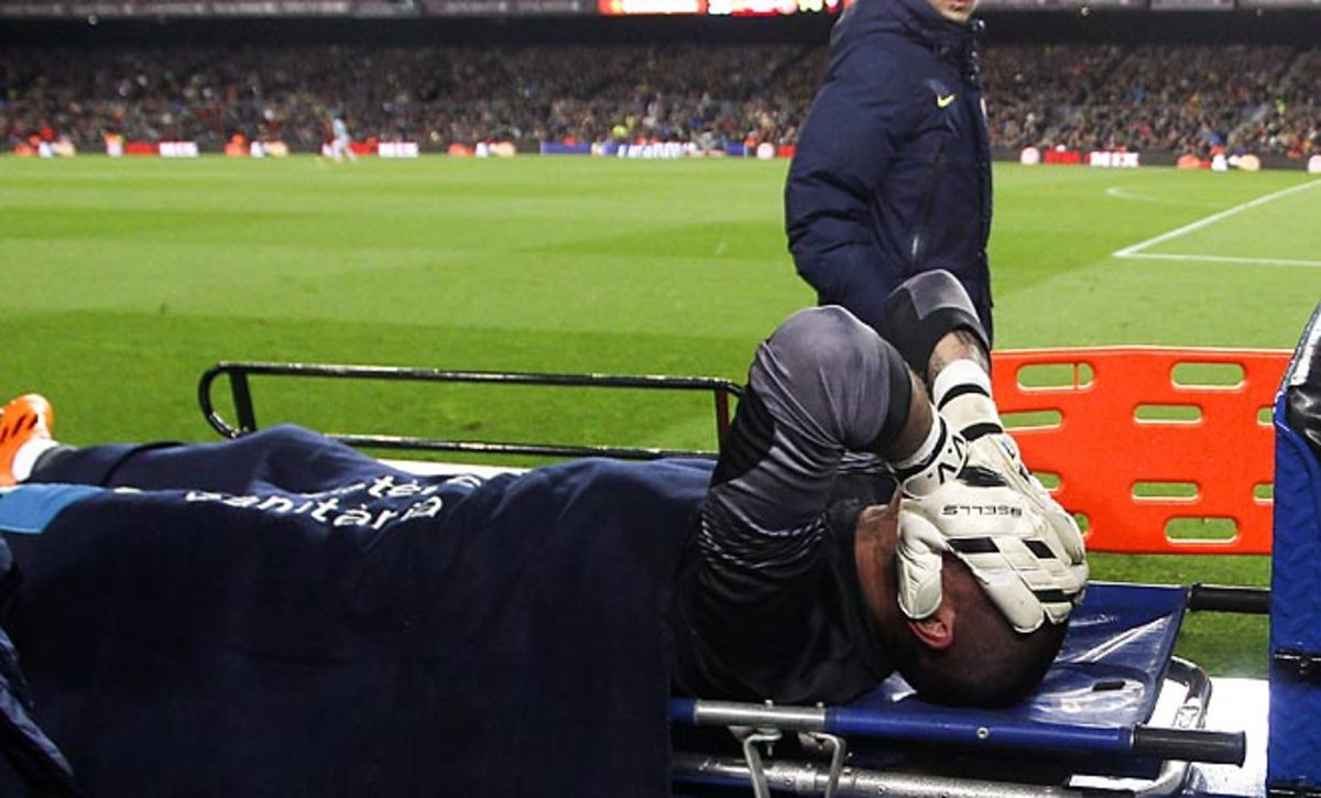 Victor Valdes has likely played his last game for Barcelona after tearing his ACL against Celta Vigo.
