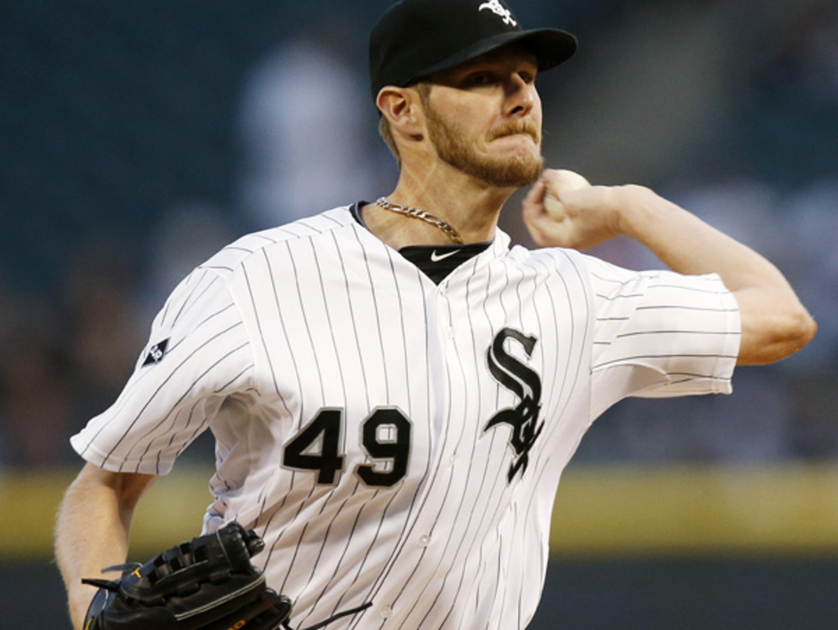 Chris Sale has been out since mid-April with a strained flexor tendon in his elbow. (Andrew Nelles/AP)