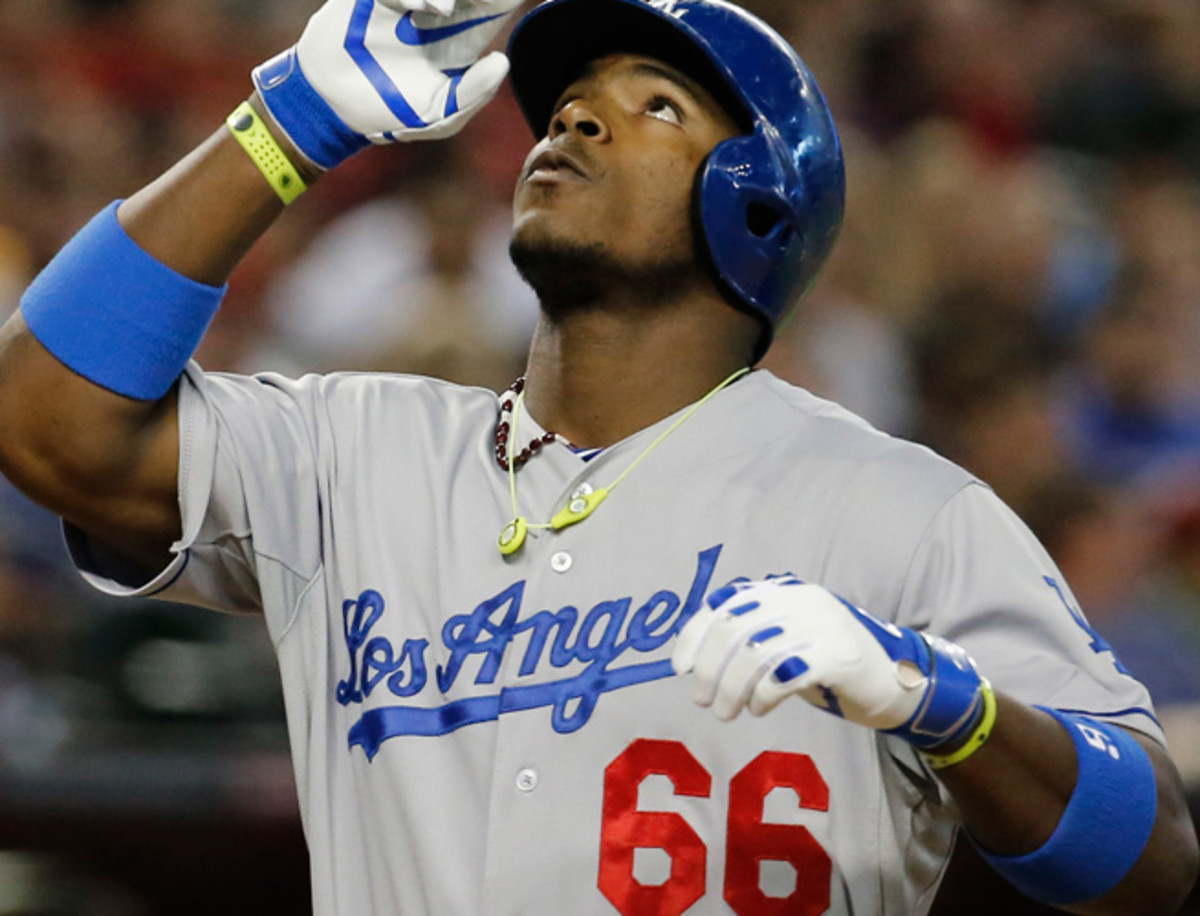 Yasiel Puig has been red-hot in the month of May and has raised his season line to .344/.442/.623.