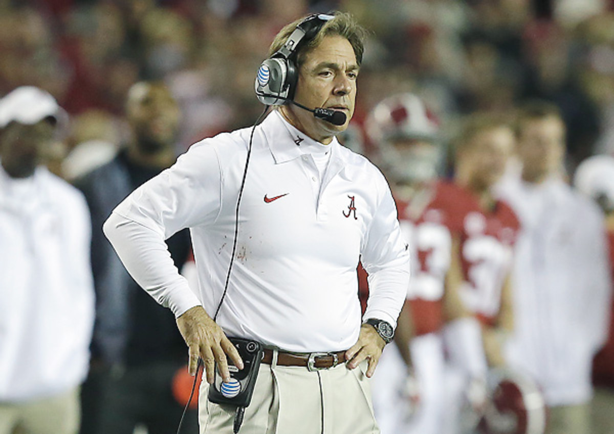 While advocating for a larger voice for players, Nick Saban said benefits to players extend beyond their scholarships.