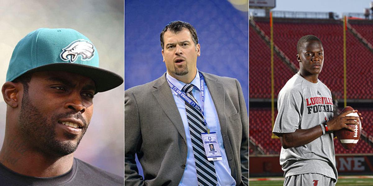 Michael Vick, Ryan Grigson and Teddy Bridgewater.