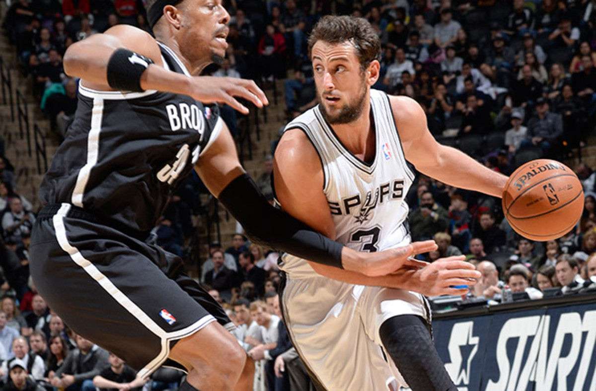 Marco Belinelli is averaging 10.5 points off the bench and shooting 49.6 percent from three-point range.