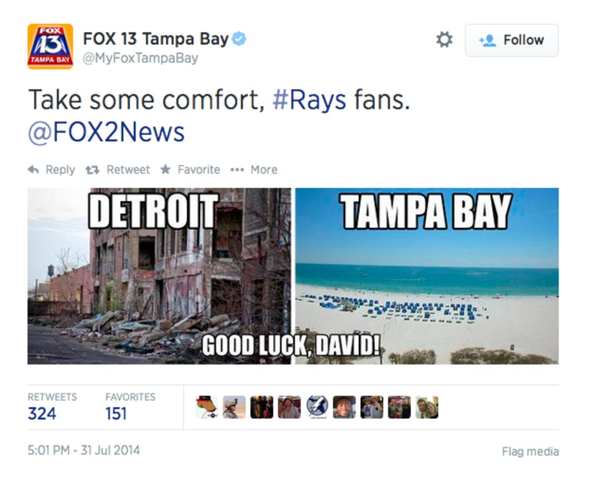 tampa bay fox tweet david price detroit trade