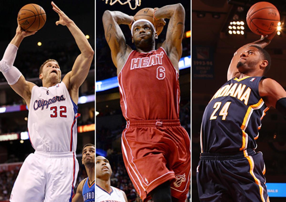 Blake Griffin; LeBron James; Paul George