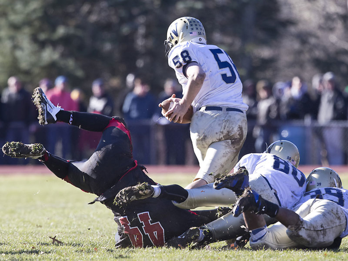 Wellesley and Needham will play for the 127th time on Thursday. (Matthew J. Lee/The Boston Globe via Getty Images)