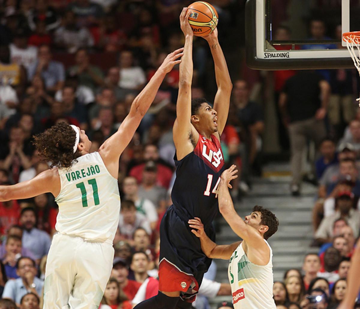 Anthony Davis USA Brazil basketball