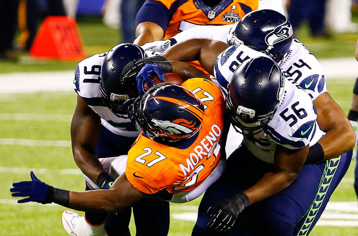 Bobby Wagner (56) and the Seahawks pride themselves on physical play. (Tom Pennington/Getty Images)