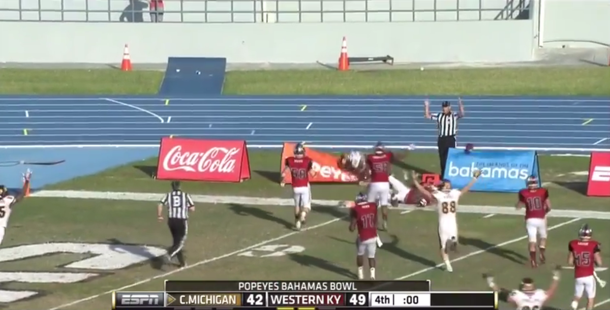 Bahamas Bowl ending video: Watch Central Michigan score crazy ...