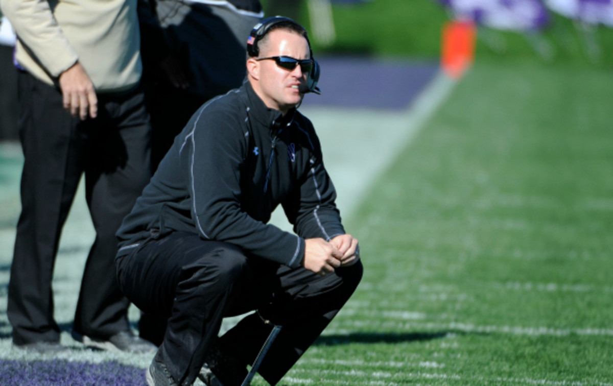 Pat Fitzgerald has a 55-46 record since becoming head coach of Northwestern. (David Banks/Getty Images)