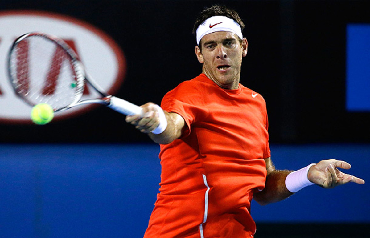 Juan Martin del Potro crashed out in the second round of the Australian Open against Roberto Bautista Agut. (Scott Barbour/Getty Images)
