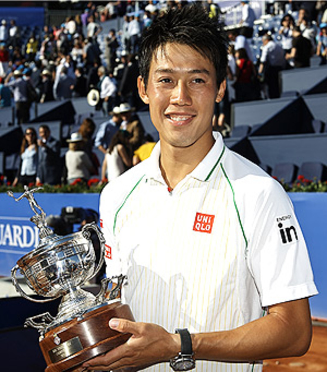 Kei Nishikori breezed through to win the Barcelona Open following Rafael Nadal's loss in the quarterfinals.