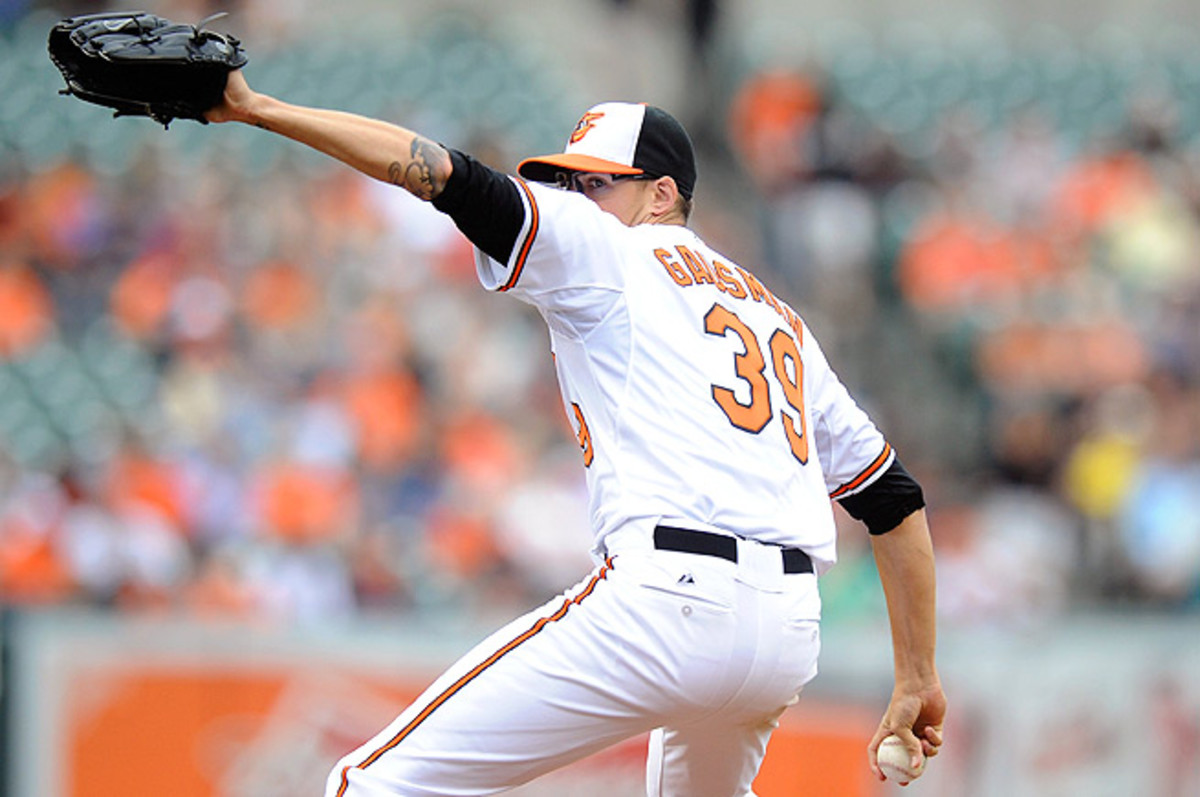 Kevin Gausman gave up five earned runs in just four innings in his first start of the season.