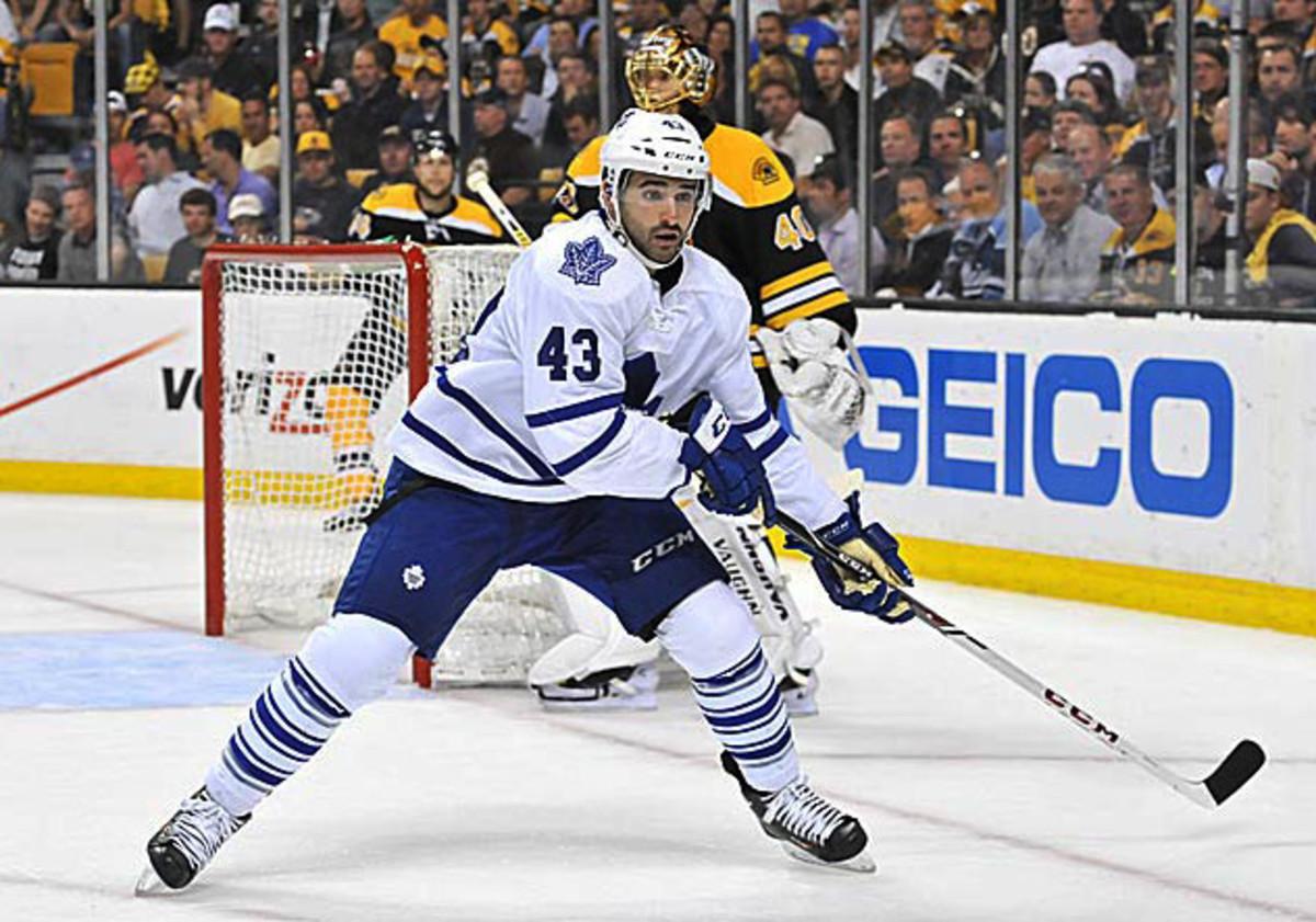 Nazem Kadri of the Toronto Maple Leafs