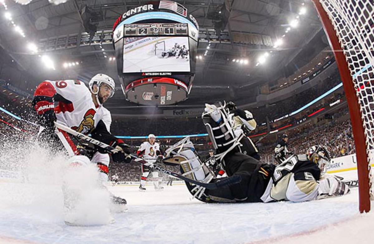 Cory Conacher playing for the Ottawa Senators