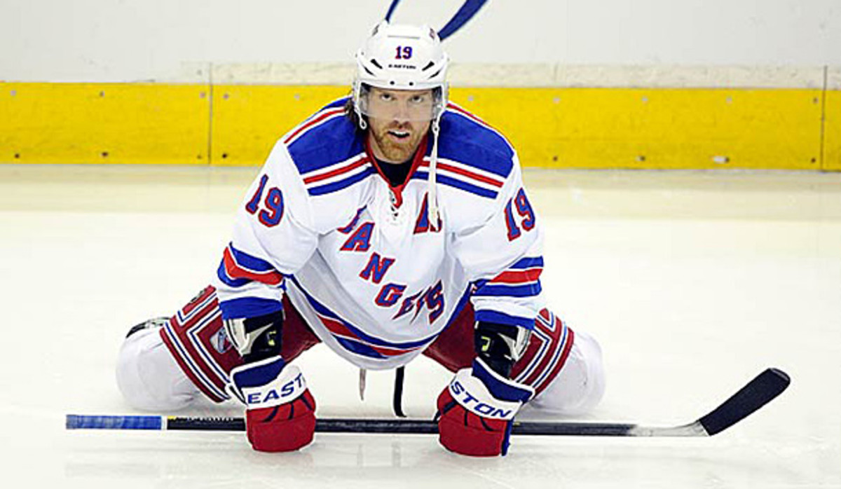 Brad Richards of the New York Rangers