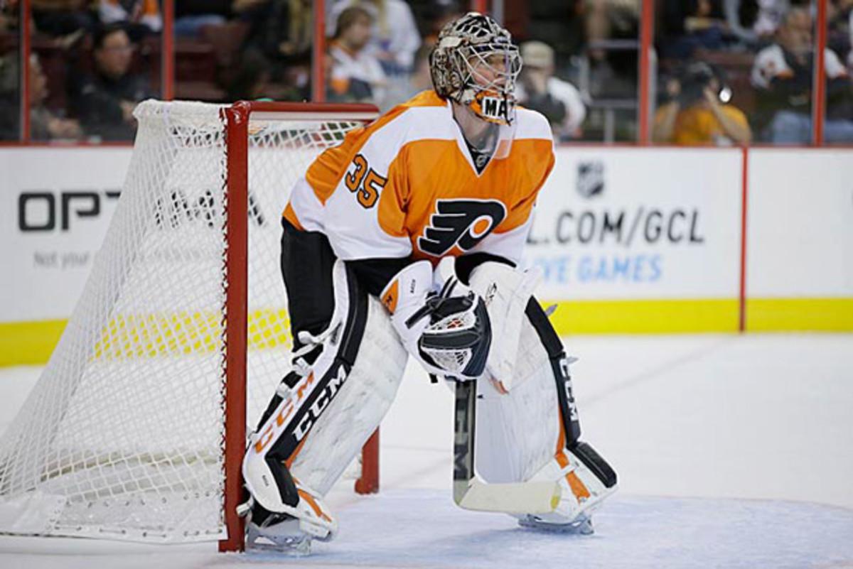Goalie Steve Mason of the Philadelphia Flyers