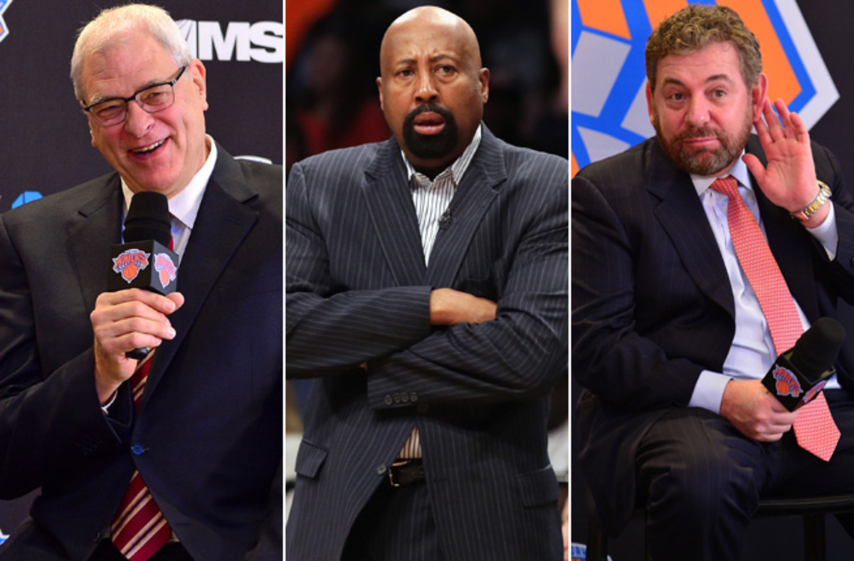 Phil Jackson now has full control of the Knicks with Mike Woodson out and James Dolan stepping aside.