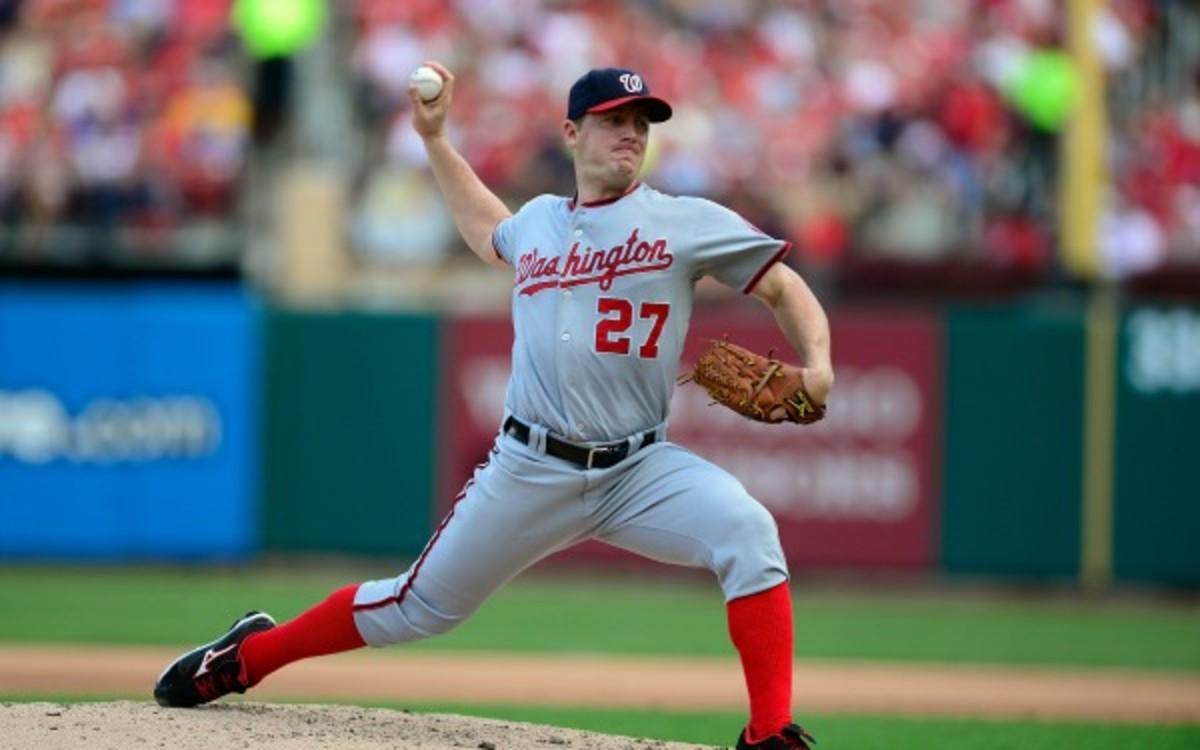 Nationals pitcher Jordan Zimmerman has a career-record of 43-35. (Jeff Curry/Getty Images)