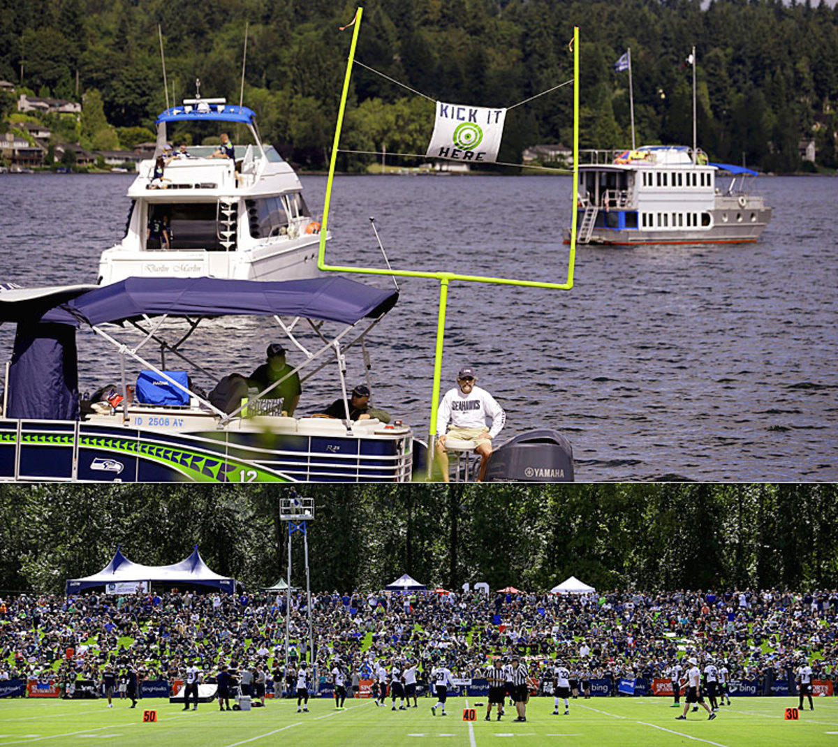 Scenes from the Seahawks' sold-out training camp on Lake Washington. (AP :: 2)