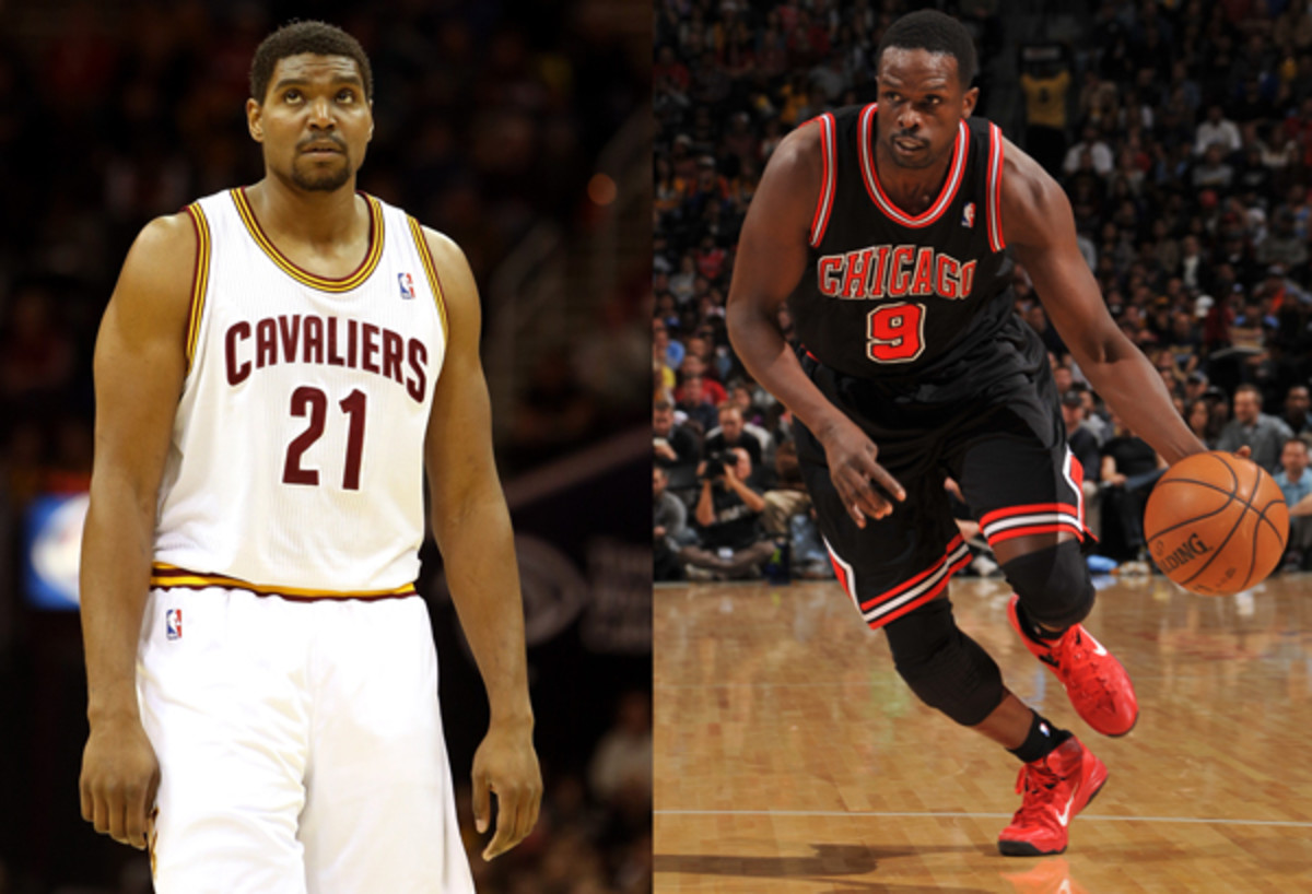 Andrew Bynum and Luol Deng
