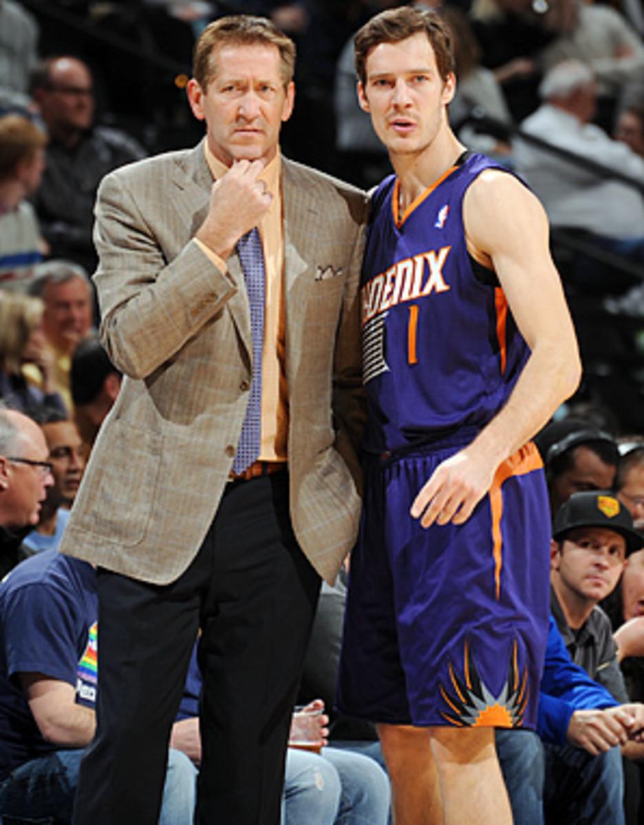 Suns coach Jeff Hornacek (left) has coaxed a career year from guard Goran Dragic.
