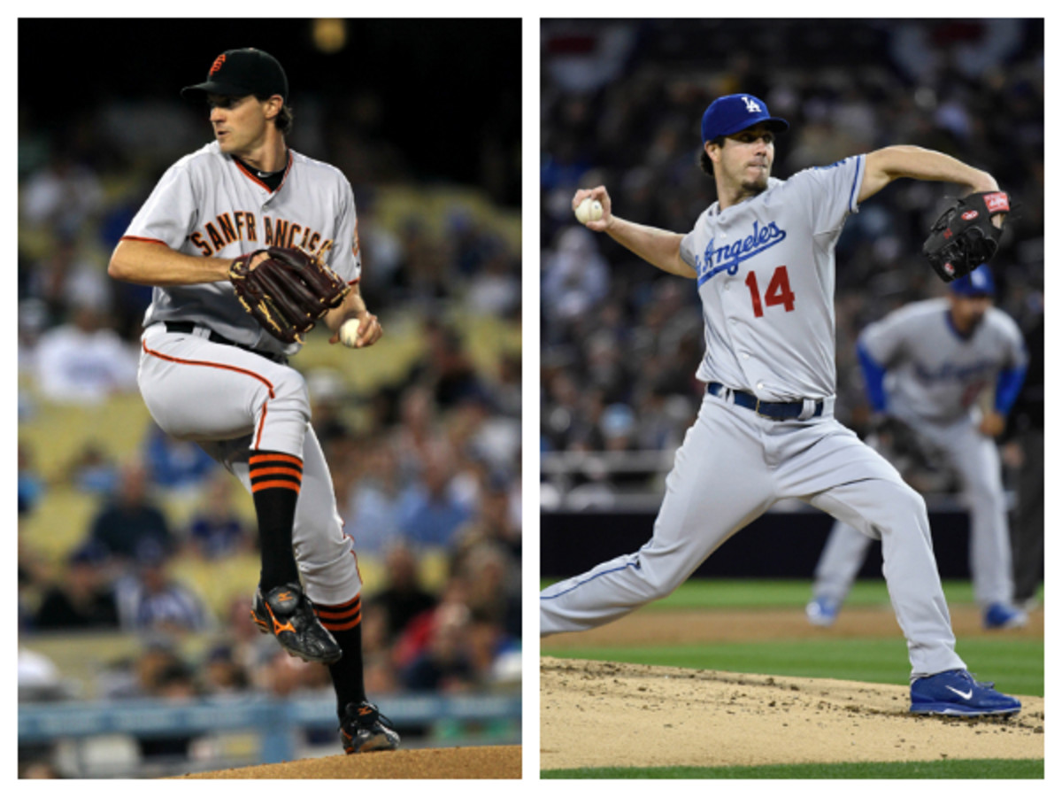 Two long toss converts, Barry Zito (L) and Dan Haren (R), have never missed a start due to an arm injury in their combined 26 years.