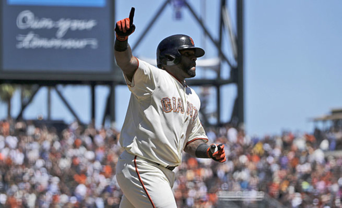Pablo Sandoval had an outstanding May to help San Francisco move up to No. 1.