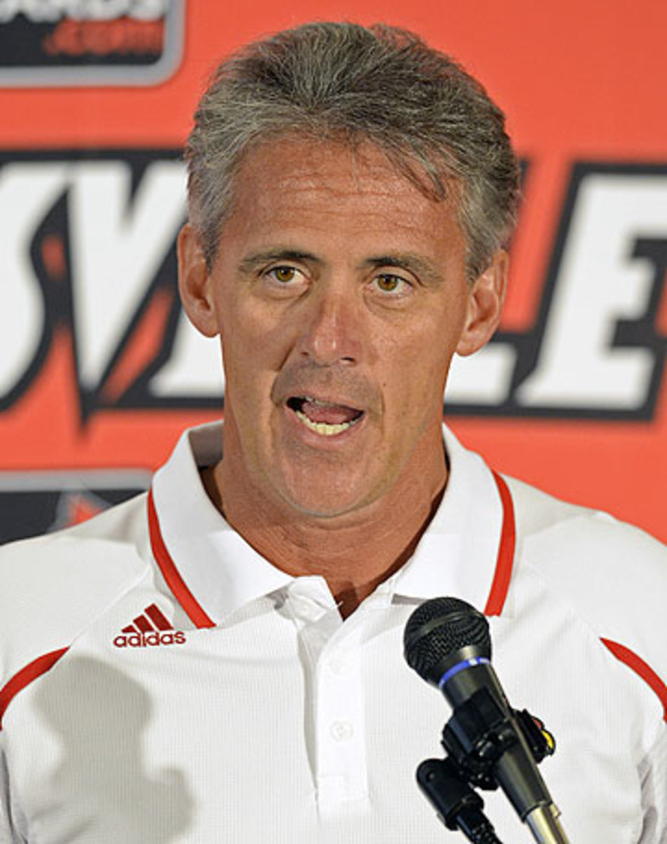Shawn Watson has served as Louisville's offensive coordinator and quarterbacks coach since 2011. (Timothy D. Easley/AP)