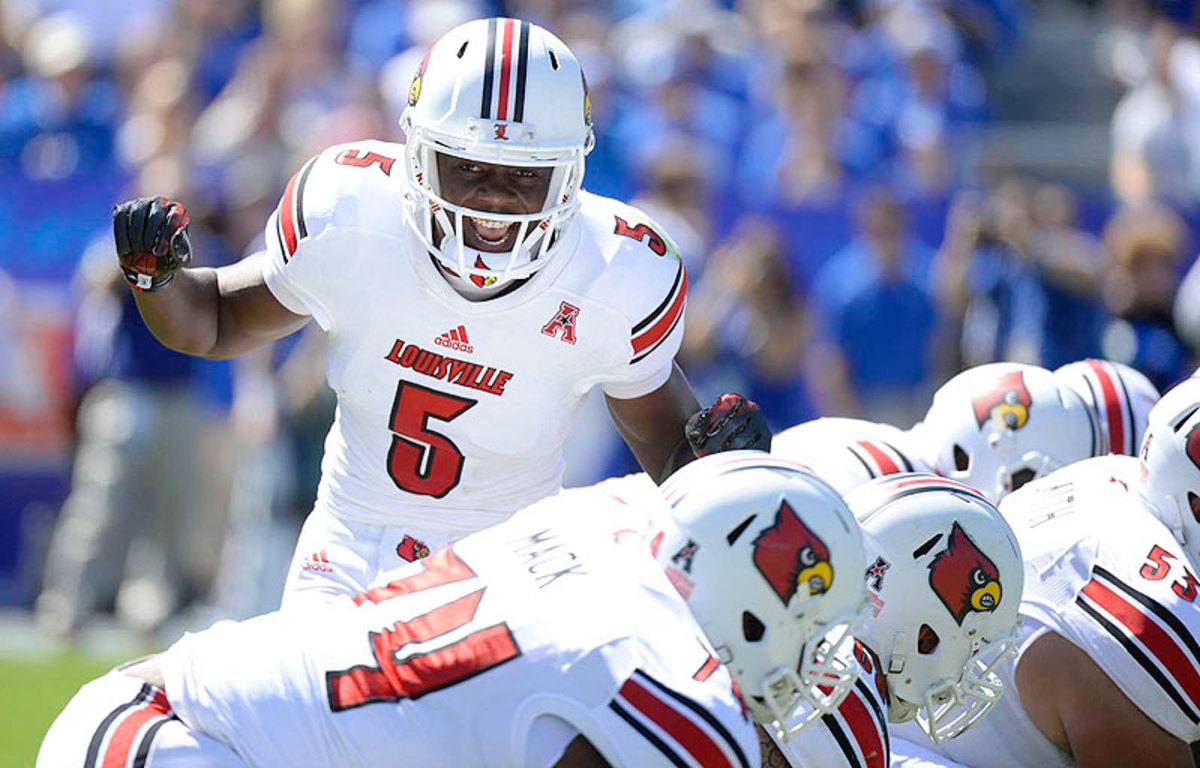Bridgewater has had autonomy at the line of scrimmage since he was a sophomore and is asked to make more reads under center than any QB prospect in recent memory. (David E. Klutho/SI)