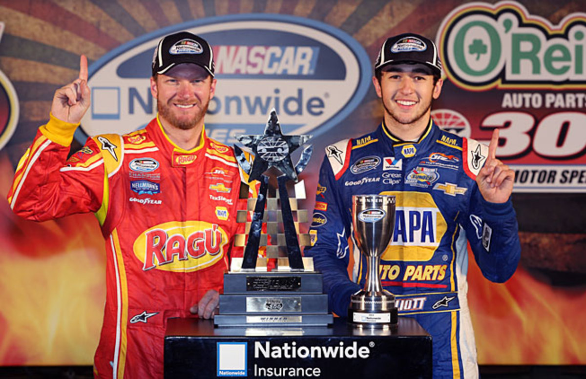 Team owner Dale Earnhardt Jr. and young gun Chase Elliott look like solid title contenders.
