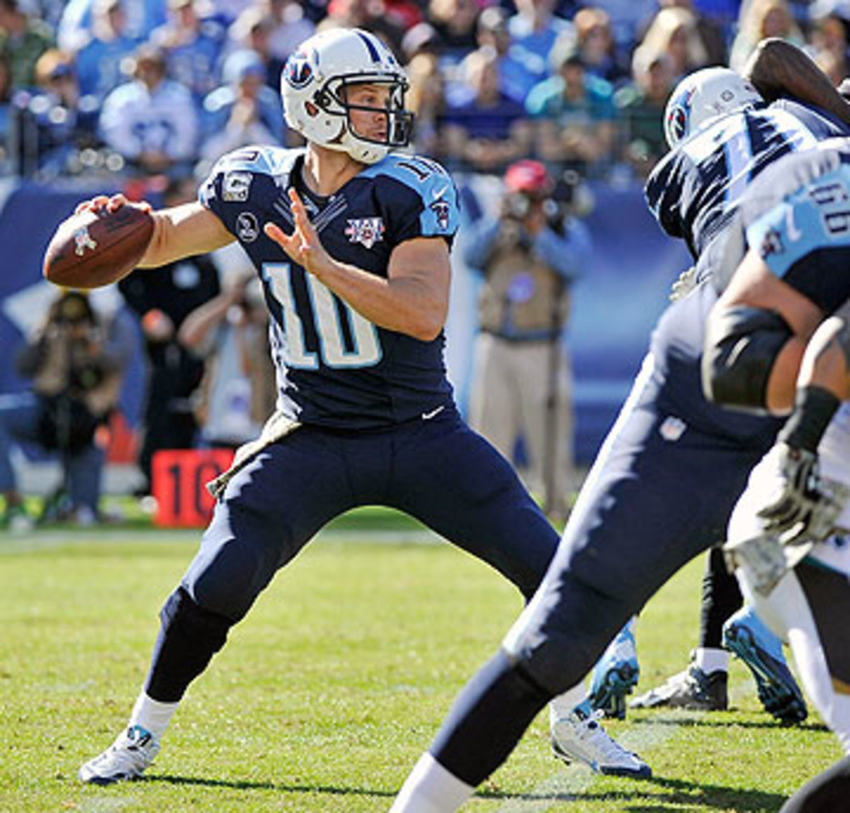 The Titans have said they aren't going to pick up the fifth-year option for Jake Locker. (Frederick Breedon/Getty Images)