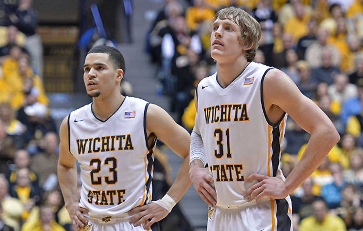 Wichita State's Fred VanVleet (L) and Ron Baker are both projected as top-90 scorers.