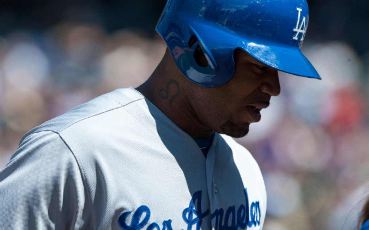 The Dodgers placed Carl Crawford on the DL Monday. (Dustin Bradford/Getty Images)