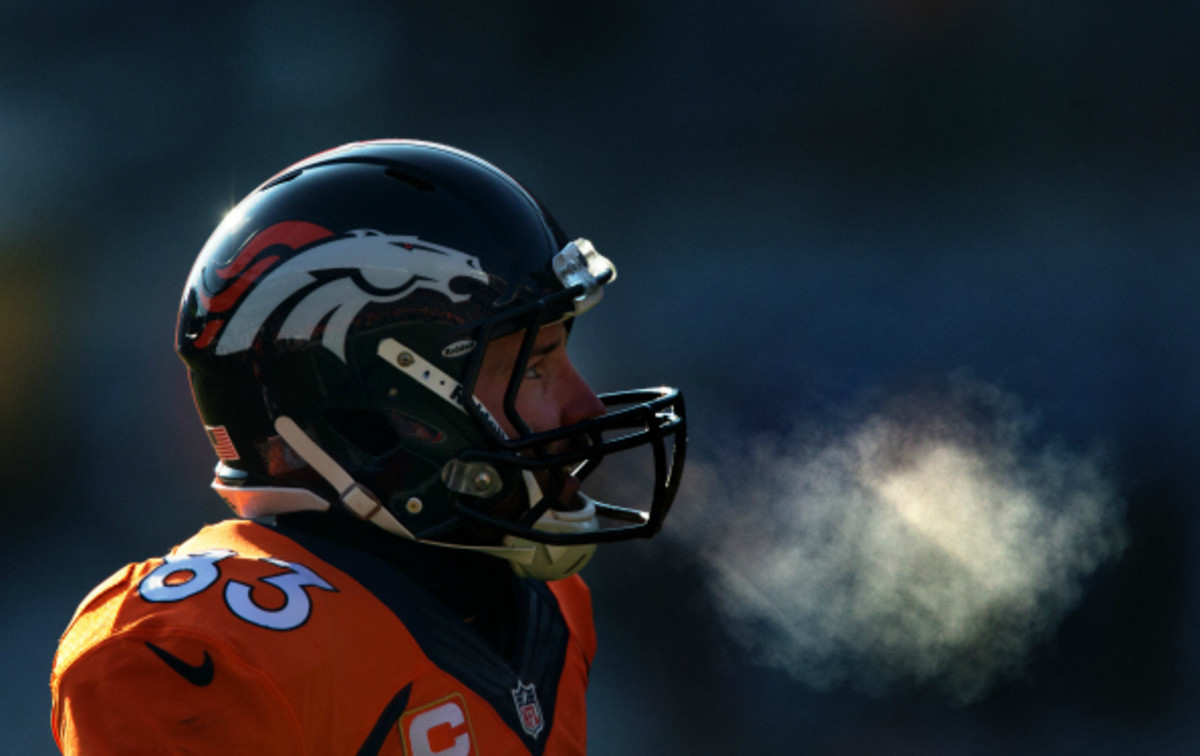 Wes Welker has 68 catches for 717 yards in his first season in Denver. (Justin Edmonds/Getty Images)