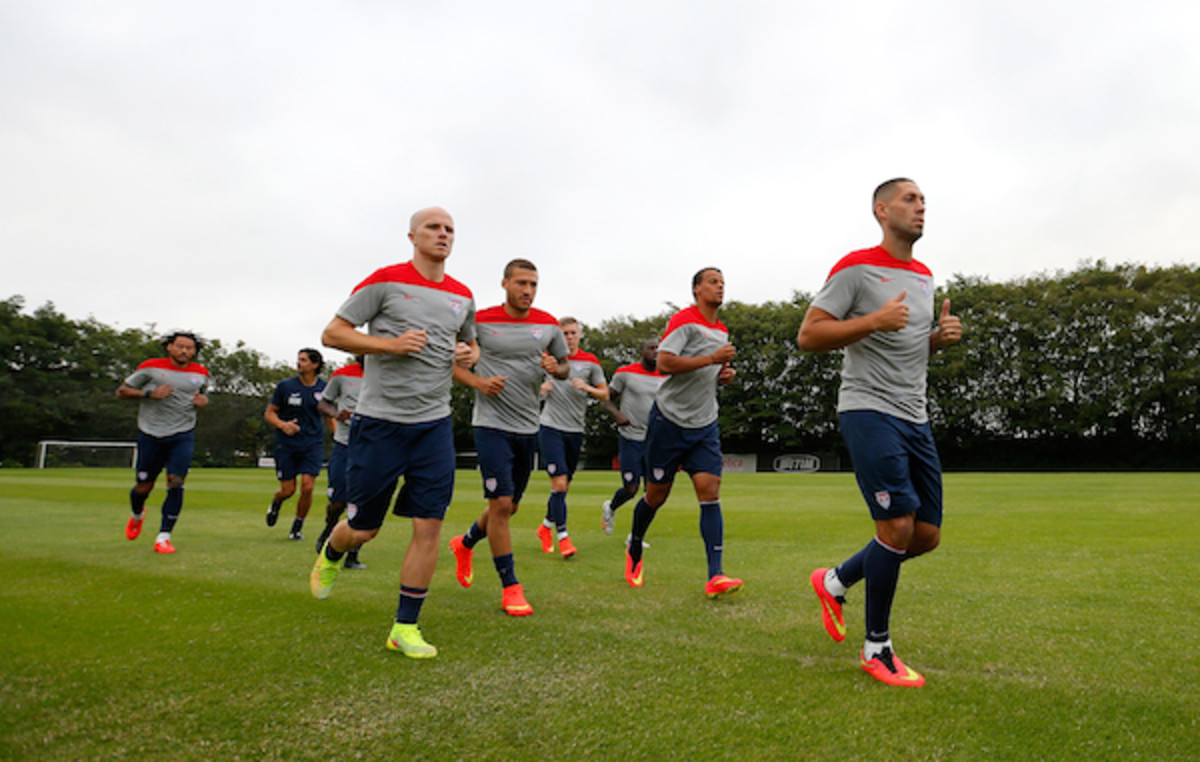 Team USA during a training session at Sao Paulo FC. (Getty Images)