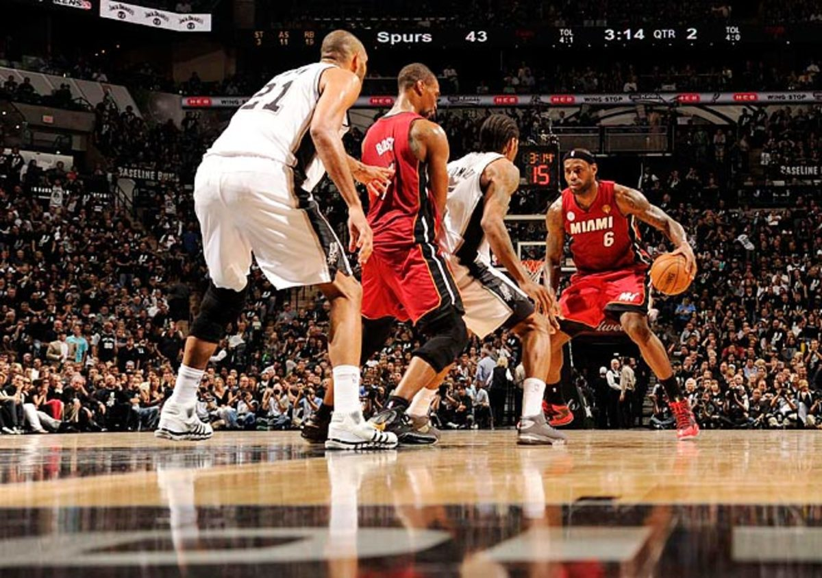 The Heat changed their offense to make LeBron James (6) even harder to defend in the half-court.