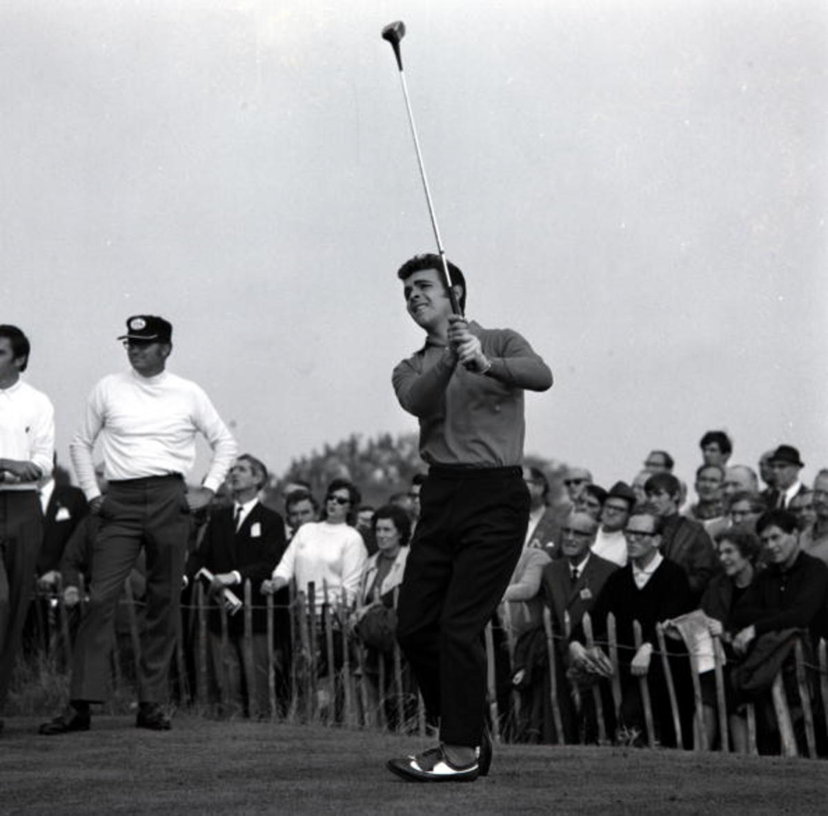 Great Britain's Tony Jacklin in action at the 1969 Ryder Cup
