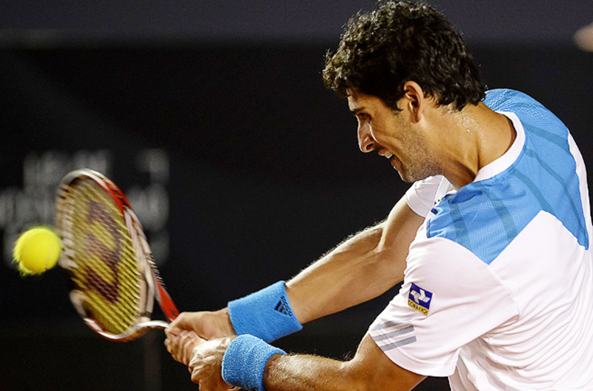Thomaz Bellucci broke Andreas Haider-Maurer's serve early in the third set and held on to win.