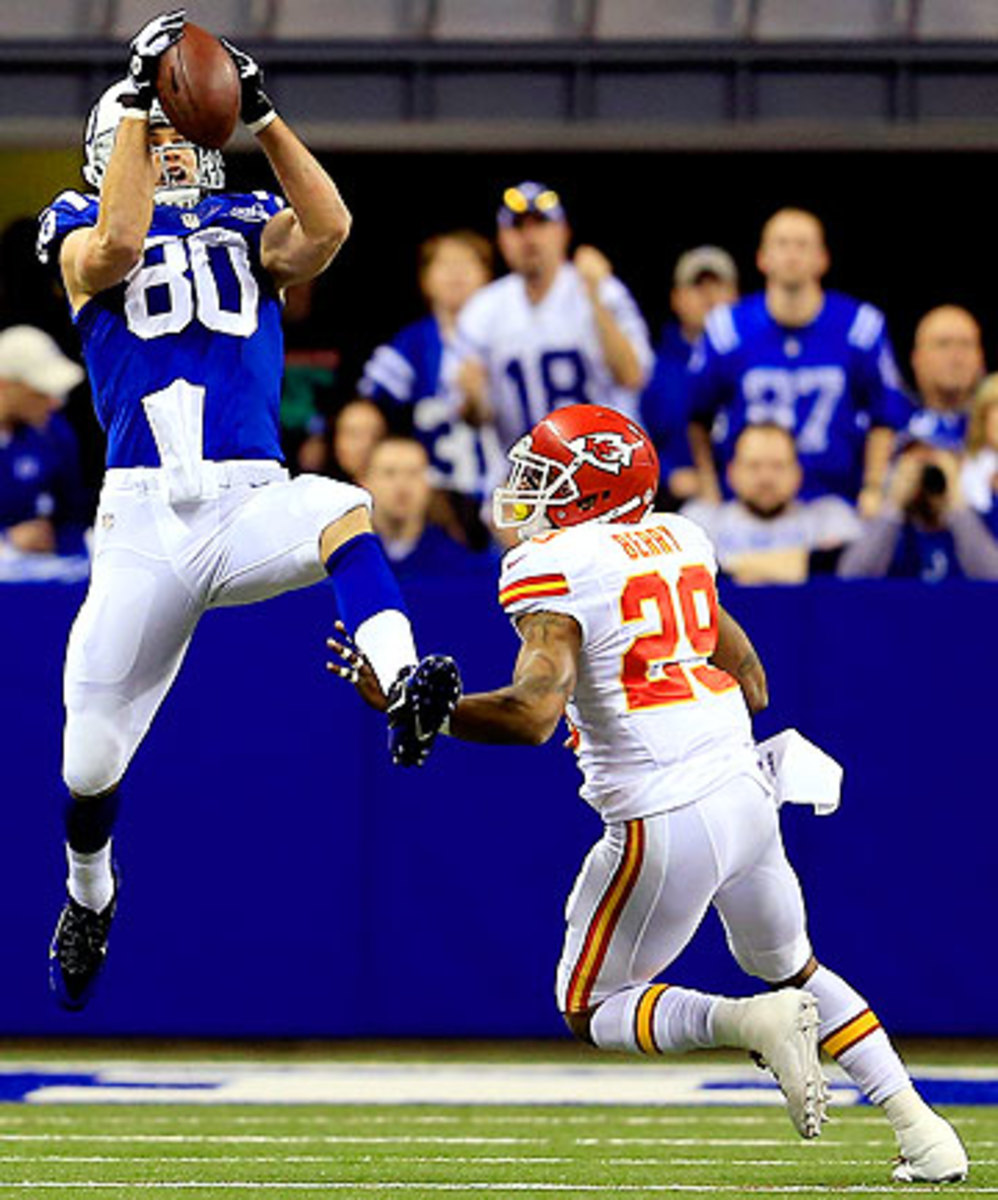 The Chiefs did not play to safety Eric Berry's strengths against Coby Fleener and the Colts. (Rob Carr/Getty Images)