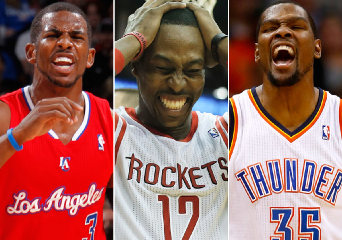 Chris Paul, Dwight Howard and Kevin Durant