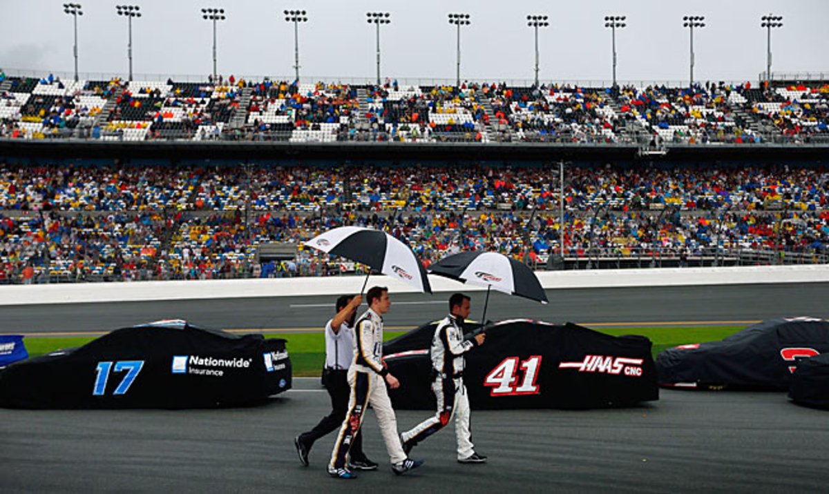 Once again, rain showers are disrupting the Great American Race.